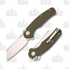 CJRB Cutlery 1904R Crag Green G-10