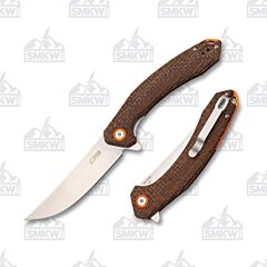 CJRB Cutlery 1906 Gobi Brown Burlap Micarta SMKW Exclusive