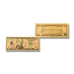 Silver 10 Dollar Foil Bill