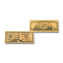 Silver 50 Dollar Foil Bill