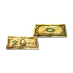 24K Gold $500 Certificate Foil Bill