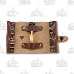 CRKT Hex Bit Driver Leather Tool Roll