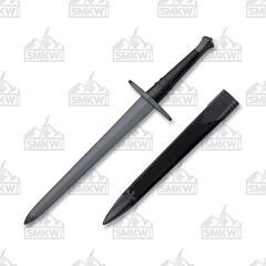 "Cold Steel ""Hand-And-A-Half"" Dagger Man at Arms Collection with Black Leather Wrapped Wood Handle and Blued Coated 1055 Carbon Steel 13"" Dagger Blade with Black Leather Wrapped Wood Scabbard Model 88HNHDM"
