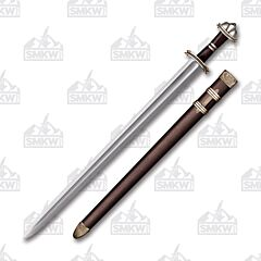 Cold Steel Damascus Viking Sword Damascus Steel Blade Rosewood Handle