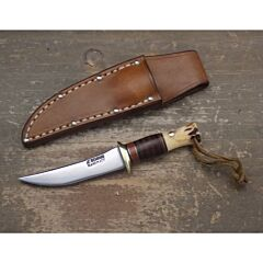 Treeman handmade Knives mini skinner model with 2.063 inch high carbon steel blade single hilt guard with stag handle