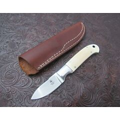 Vintage Tom Mayo Custom Walrus Ivory Drop Point Hunter