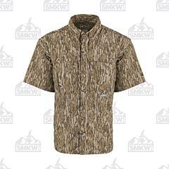 Drake Camo Wingshooter's Short Sleeve Button Down Shirt Mossy Oak Bottomland