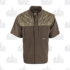 Drake Camo Wingshooter's Short Sleeve Button Down Shirt Two Tone Bottomland