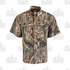 Drake Camo Wingshooter's Short Sleeve Button Down Shirt Shadowgrass