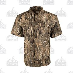 Drake Camo Wingshooter's Short Sleeve Button Down Shirt Realtree Timber