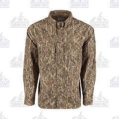 Drake Camo Wingshooter's Long Sleeve Button Down Shirt Mossy Oak Bottomland