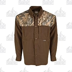 Drake Camo Wingshooter's Long Sleeve Button Down Shirt Two Tone Shadowgrass