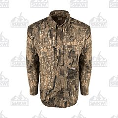 Drake Camo Wingshooter's Long Sleeve Button Down Realtree Tree Timber