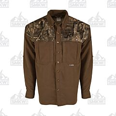 Drake Camo Wingshooter's Long Sleeve Button Down Shirt Two Tone Realtree Timber
