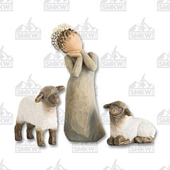 Demdaco Willow Tree Little Shepherdess Figurines