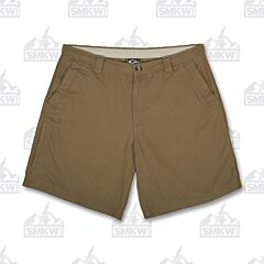 Drake Washed Cotton Canvas Tobacco Shorts