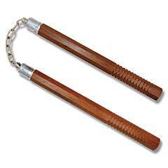 """Master Cutlery 14"""" Dark Wood Octagon Nunchaku Model HP1003-C"""