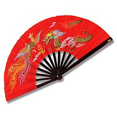 Master Cutlery Kung Fu Fighting Fan Red