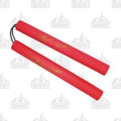 "Nunchaku 12"" Red Foam Padded Dragon Rope Version"