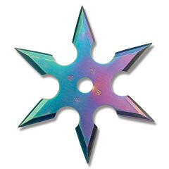 Master Cutlery Rainbow 6 Point Stainless Steel Throwing Star Model 90-16C
