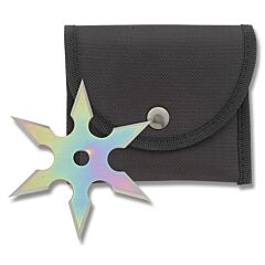 Master Cutlery Rainbow 6 Point Stainless Steel Throwing Star Model 90-16DRB