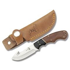 "Master Cutlery Elk Ridge Hunter with Two Tone Wood Handles and Stainless Steel 3.25"" Guthook Plain Edge Blades Model ER-198"
