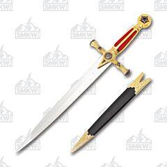 Master Cutlery Masonic Dagger HK-023 Red