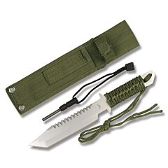 """Master Cutlery Survivor Cord Tanto 6.5"""" Green"""