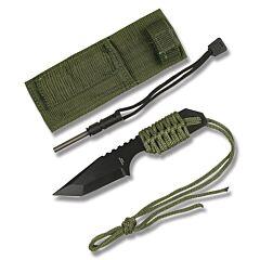 """Master Cutlery Survivor Cord Tanto 3.75"""" Green"""