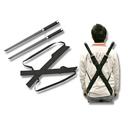 Master Cutlery Dual Ninja Swords with Back Strap