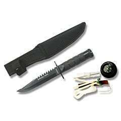 "Master Cutlery Survivor Storage Bowie 4.75"" Black"