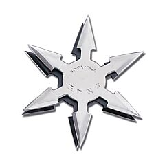 "Master Cutlery 4"" Diameter 6 Point Throwing Star Set"
