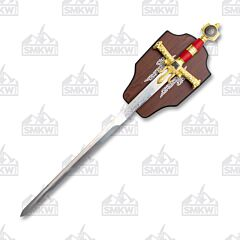 Master Cutlery KS-4914RD Medieval Sword with Plaque