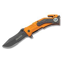 Tac Force EMT Spring Assisted Knife Stainless Steel Blade Aluminum Handle