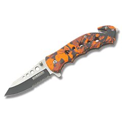 Master Cutlery Tac-Force Rescue Orange Camo