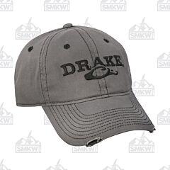 Drake Solid Distressed Cap Gray