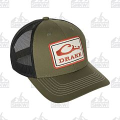 Drake Square Patch Mesh Back Cap Loden and Black