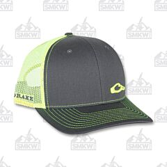 Drake Enid Mesh Back Cap Charcoal and Neon