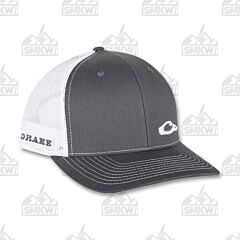 Drake Enid Mesh Back Cap Charcoal and White