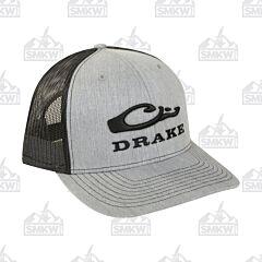 Drake Mesh Back Cap Heather Gray and Black