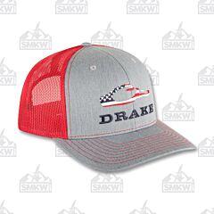 Drake Americana Cap Gray and Red