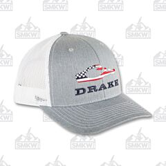 Drake Americana Cap Gray and White