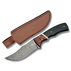 Damascus Skinner with Horn Handle