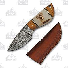Wild Stag Skinner Damascus Steel
