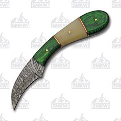 Rite Edge Green Wood & Bone Hawkbill Hunter