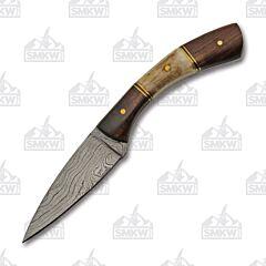 Rite Edge Curved Damascus Skinner