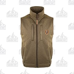 Drake Non Typical Soft Shell Fleece Vest Heather Olive