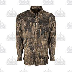 Drake Mesh Back Flyweight Long Sleeve Shirt Realtree Timber