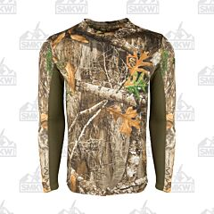 Drake Performance Crew Long Sleeve Shirt Realtree Edge