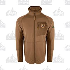 Drake Pursuit Full Zip Hoodie with Agion Active XL Dark Earth